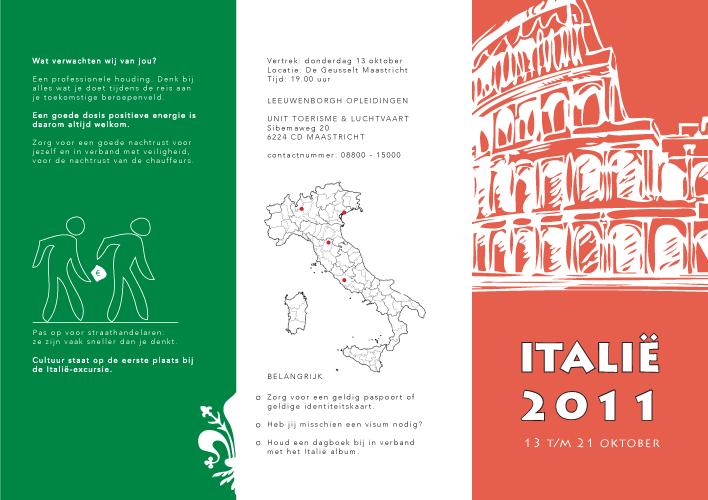 threefold flyer italia trip